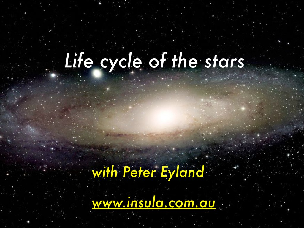 the life cycles of stars As stars progress through life, their size, luminosity and radial temperature change according to predictable natural processes this section will describe those changes, focusing on the life cycle of the sun.